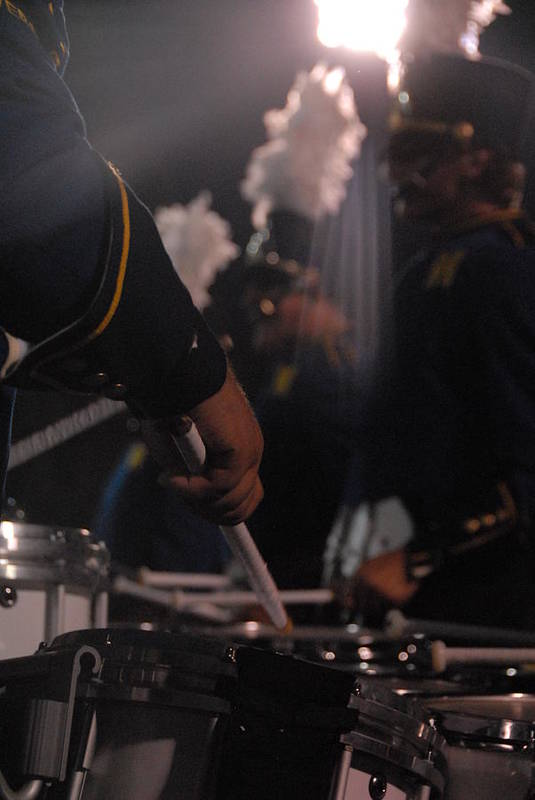Msu Art Print featuring the photograph Drummer's Hand by Steven Crown