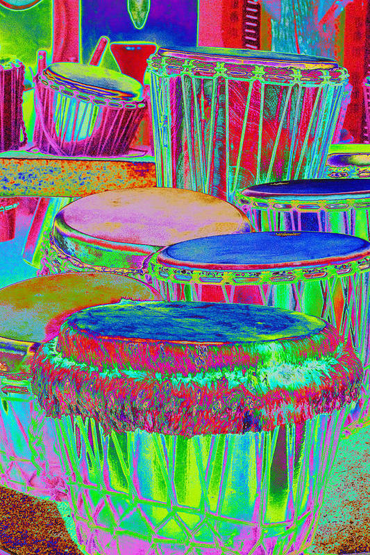 Psychedelic Art Print featuring the photograph Drums Of Change by Richard Henne