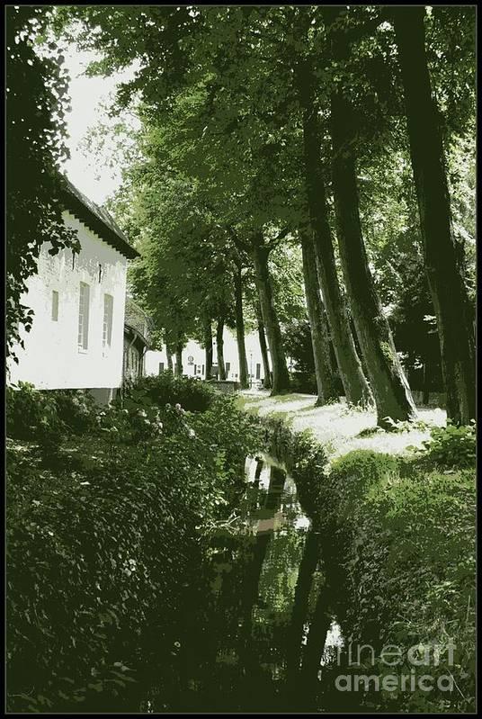 Dutch Art Print featuring the photograph Dutch Canal - Digital by Carol Groenen
