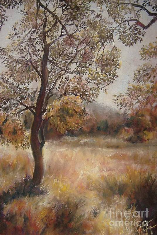 Landscape Art Print featuring the painting Early Autumn by Julianna Ziegler