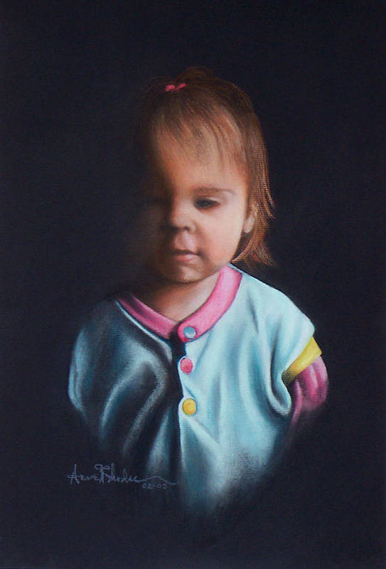 Child Art Print featuring the painting Early Riser by Anne Rhodes