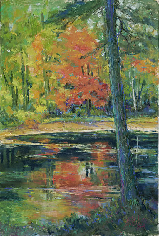 Fall Art Print featuring the painting East Coast Autumn by Billie Colson