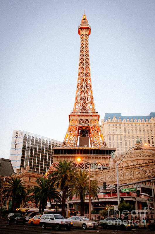 Las Vegas Print featuring the photograph Eiffel Tower Nevada by Andy Smy