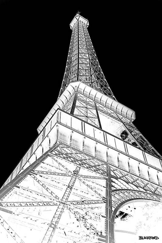 Eiffel Tower Art Print featuring the photograph Eiffel Up Inverted by Al Blackford