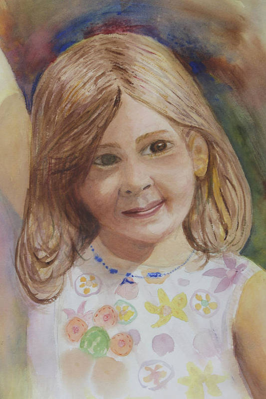 Elizabeth Art Print featuring the painting Elizabeth by Donna Walsh