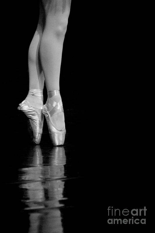 Pointe Art Print featuring the photograph En Pointe by Jeannie Burleson