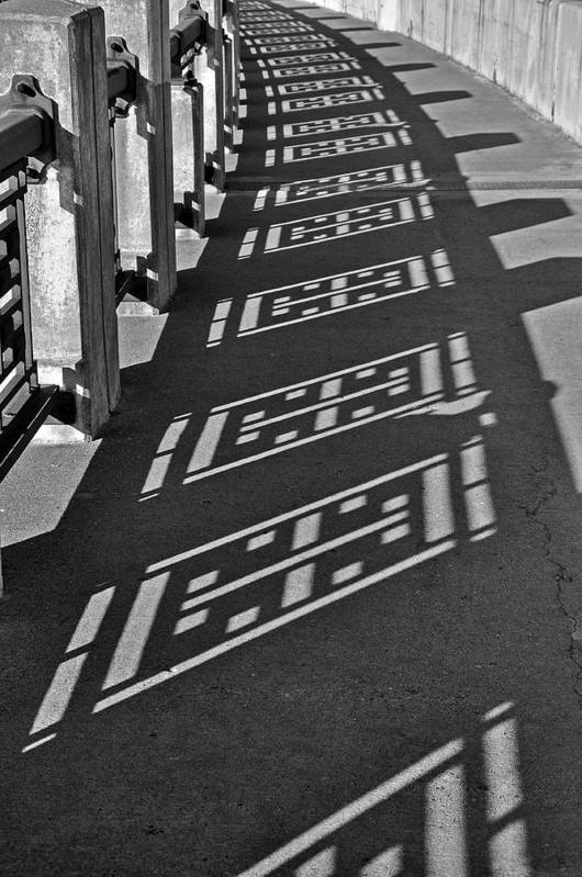 B&w Art Print featuring the photograph Endless Walkway by John Ricker