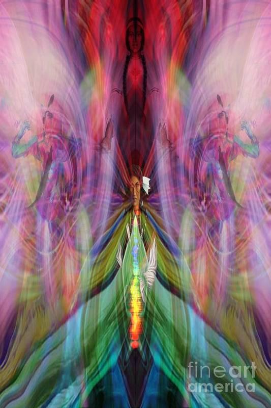 Art Print featuring the digital art Esceheman-earthgoddess by Rich Baker