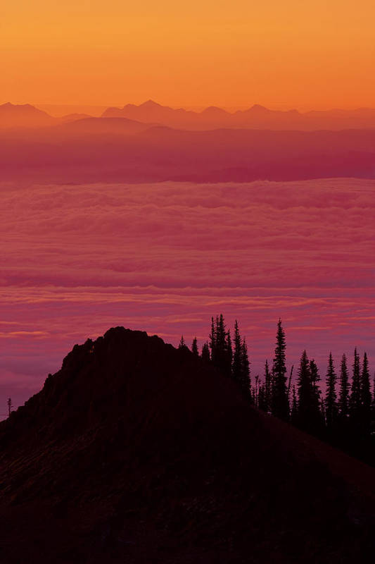 Above Art Print featuring the photograph Evening At The Top by Eggers Photography
