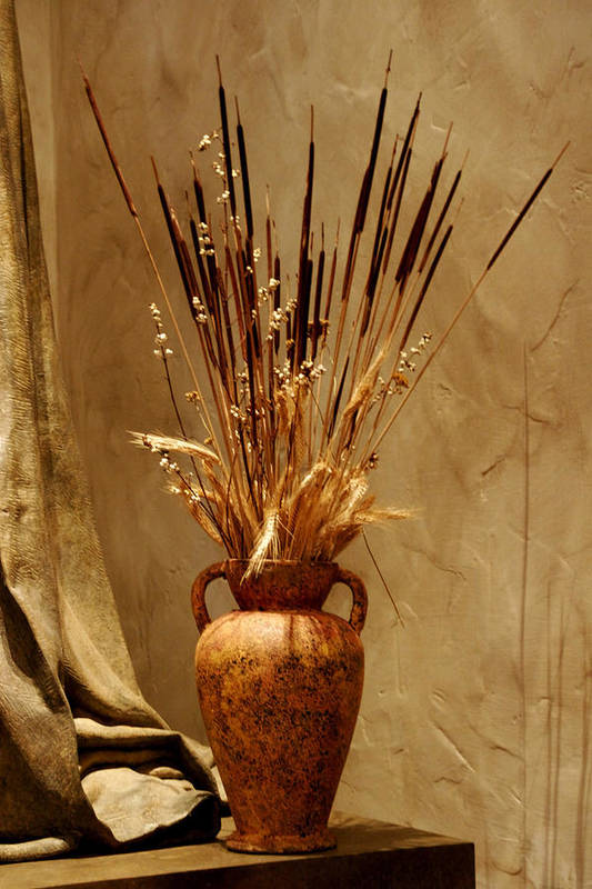 Fall Art Print featuring the photograph Fall In A Vase Still-life by Christine Till
