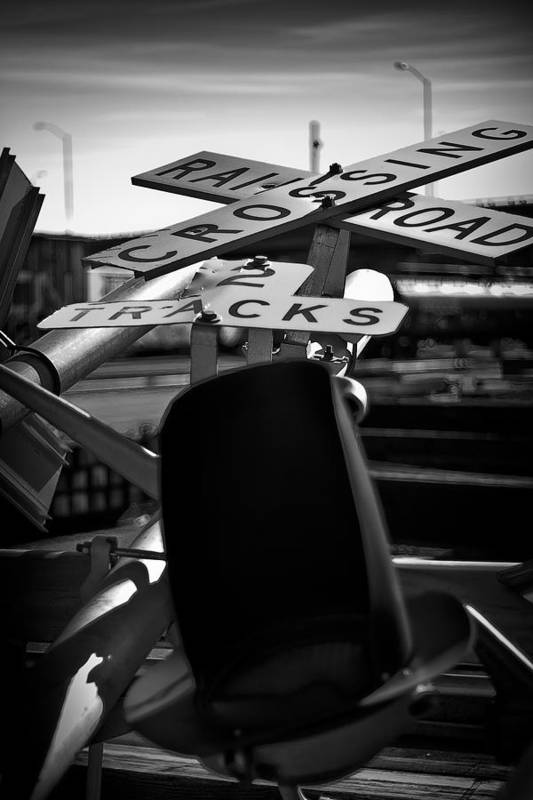 Black And White Photograph Art Print featuring the photograph Fallen by Mike Oistad