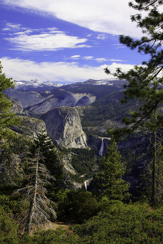 Art Print featuring the photograph falls of Yosemite by Jim Riel