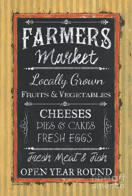 Farm Art Print featuring the painting Farmer's Market Signs by Debbie DeWitt