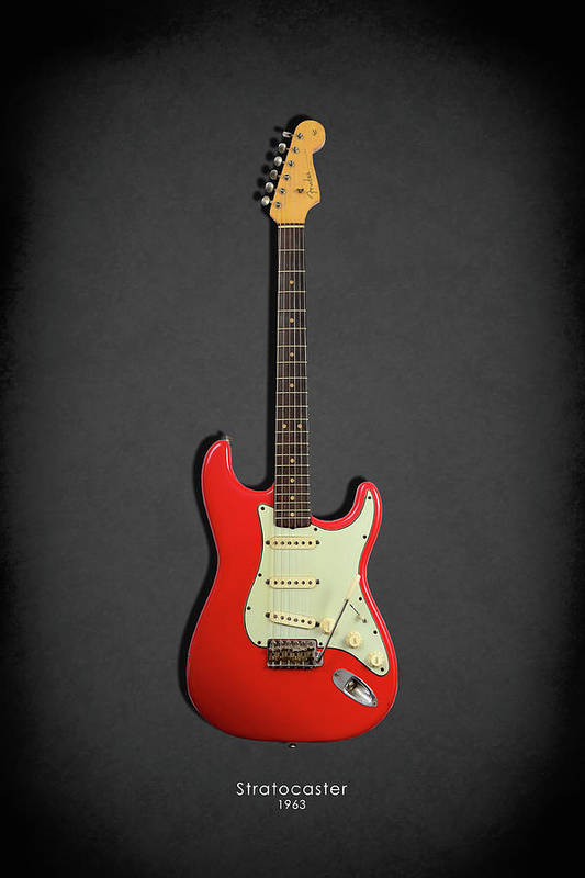 Fender Stratocaster Art Print Featuring The Photograph 63 By Mark Rogan