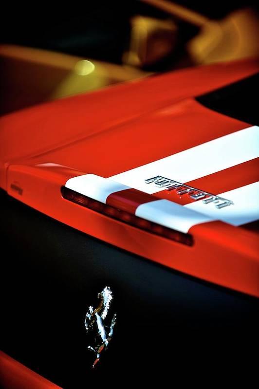 Cars Art Print featuring the photograph Ferrari by Bobby Bouchikhi
