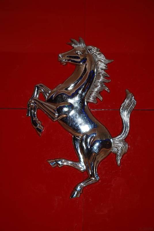 Pop Art Art Print featuring the photograph Ferrari Stallion by Rob Hans