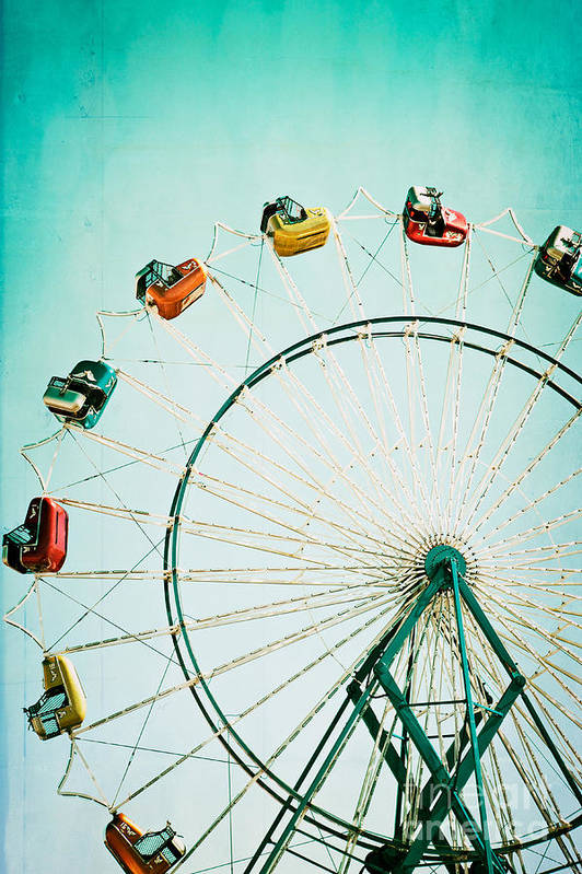 Ferris Wheel Art Print featuring the photograph Ferris Wheel 2 by Kim Fearheiley
