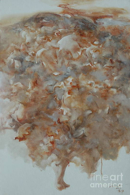 Social Art Print featuring the painting Festering  No01 by Gongwei