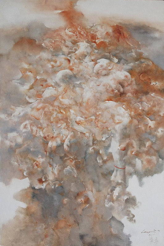 Social Art Print featuring the painting Festering N003 by Gongwei
