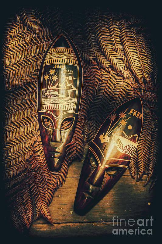 Fijian Tiki Tribal Masks Art Print by Jorgo Photography - Wall Art ...