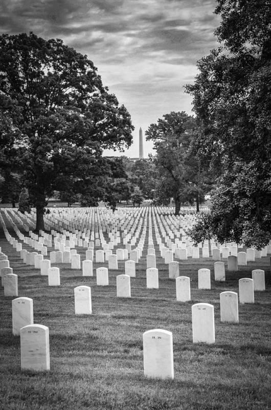 Arlington National Cemetary Art Print featuring the photograph Final Rest by Frank Mari