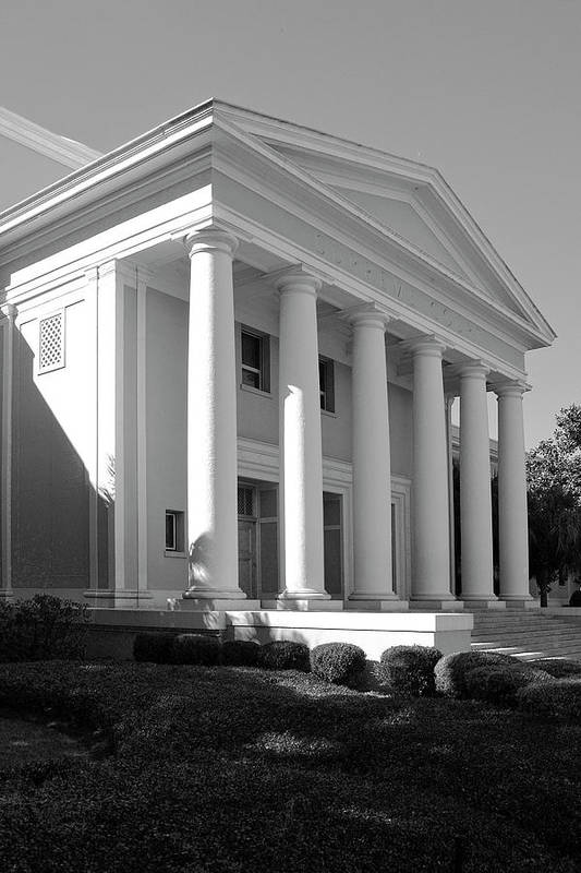 Black And White Photography Art Print featuring the photograph Florida State Surpeme Court by Wayne Denmark