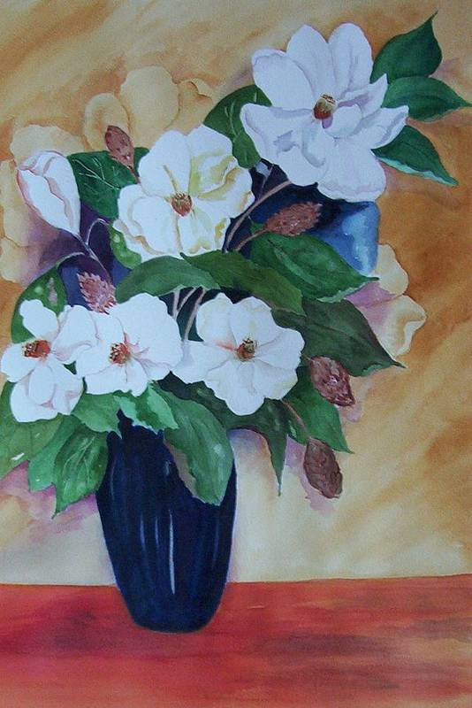 Floral Art Print featuring the painting Flowers For The Table by Audrey Bunchkowski