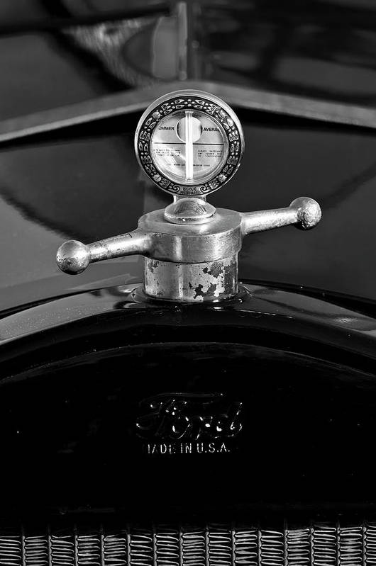Ford Art Print featuring the photograph Ford Boyce Motometer by Jill Reger