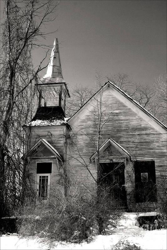 Church Art Print featuring the photograph Forsaken by Debra Straub