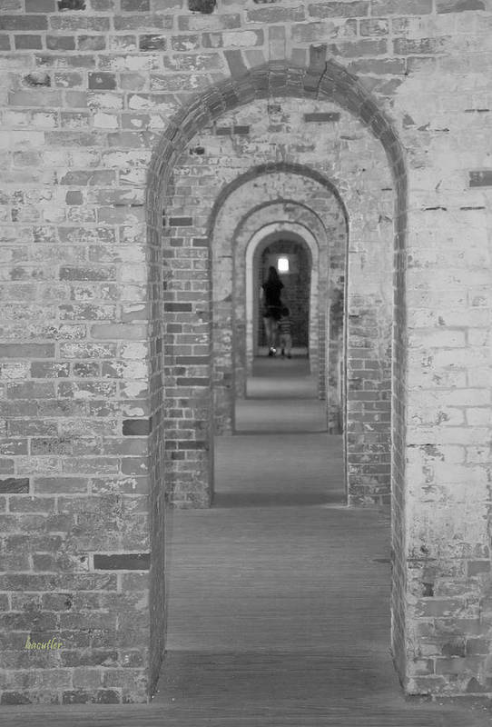 Harkers Island Art Print featuring the photograph Fort Macon Going Home by Betsy Knapp