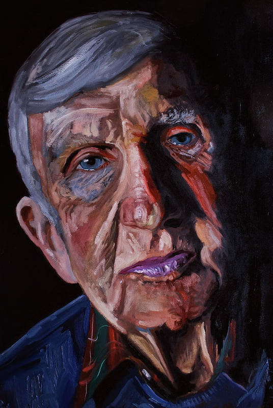 Portrait Art Print featuring the painting Frank1 by Keith O Rahilly