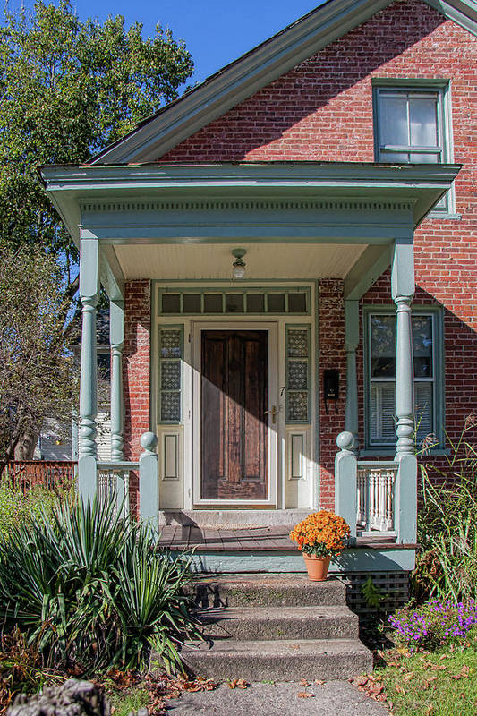 Doors Art Print featuring the photograph Front Door Two by Suzanne Bauer Photography