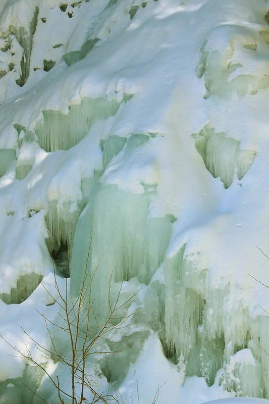 Waterfall Art Print featuring the photograph Frozen Moss Glen Falls by John Burk
