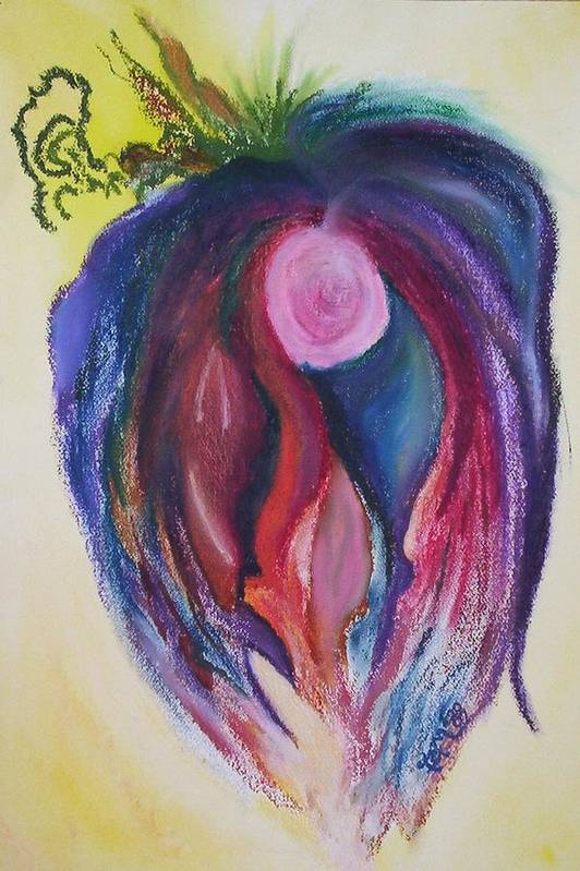 Abstract Art Print featuring the painting Fruit by Suzanne Udell Levinger