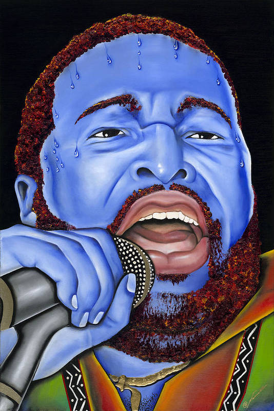 Portrait Art Print featuring the painting G. Levert by Nannette Harris