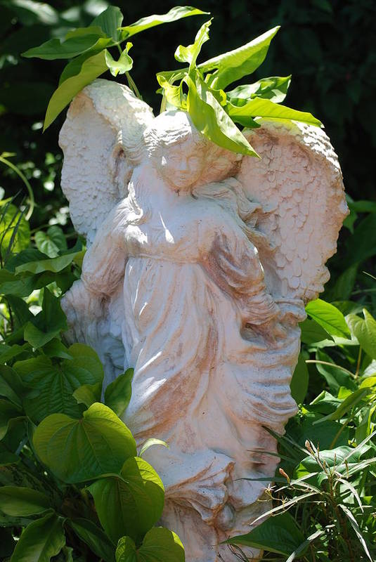 Angels Art Print featuring the photograph Garden Angel by Rob Hans