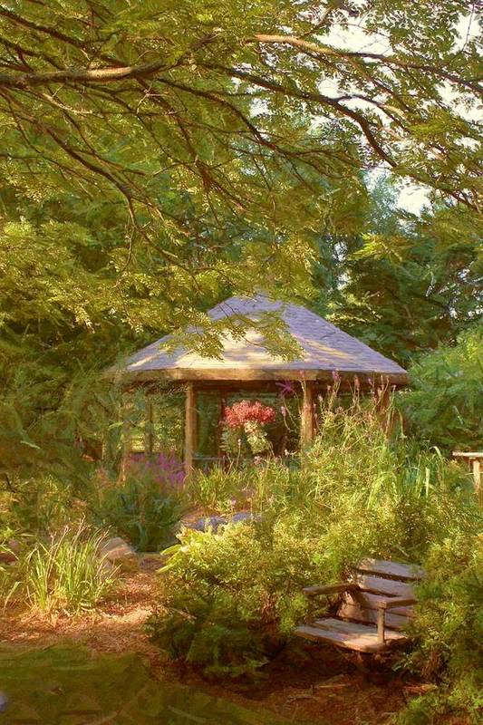 Garden Art Print featuring the photograph Garden Gazebo by Jim Darnall
