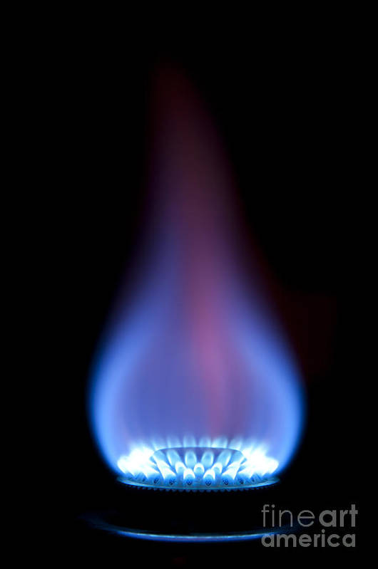 Gas Art Print featuring the photograph Gas Flame by Andy Smy