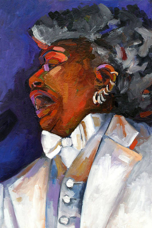 Portrait Art Print featuring the painting Gaye Adegbalola by Jackie Merritt