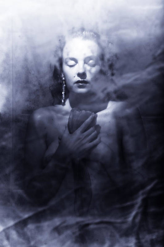 Woman Art Print featuring the photograph Ghost Woman by Scott Sawyer