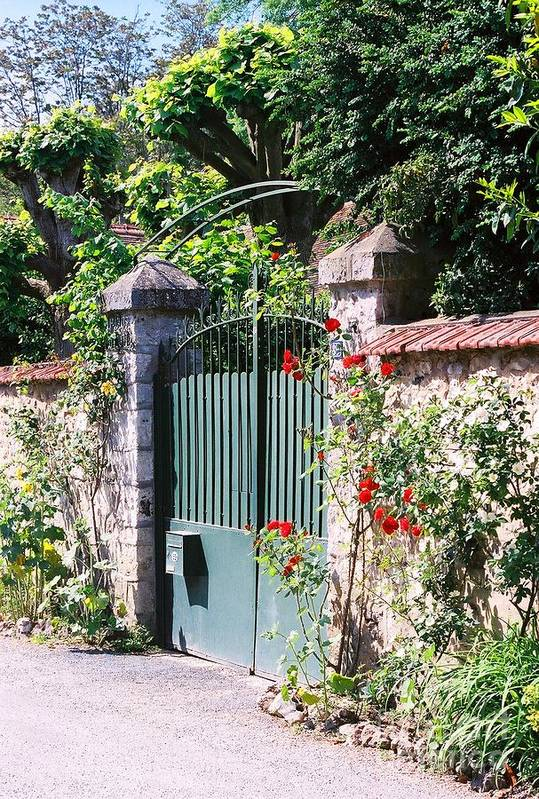 Giverny Art Print featuring the photograph Giverny Gate by Nadine Rippelmeyer