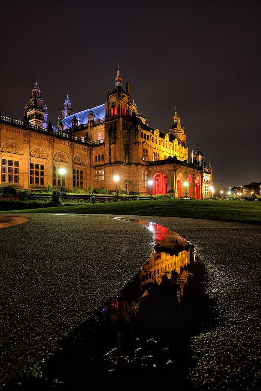Glasgow Art Print featuring the photograph Glasgow Kelvingrove Art Gallery by Grant Glendinning