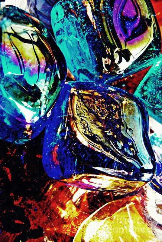 Glass Art Print featuring the photograph Glass Abstract 687 by Sarah Loft