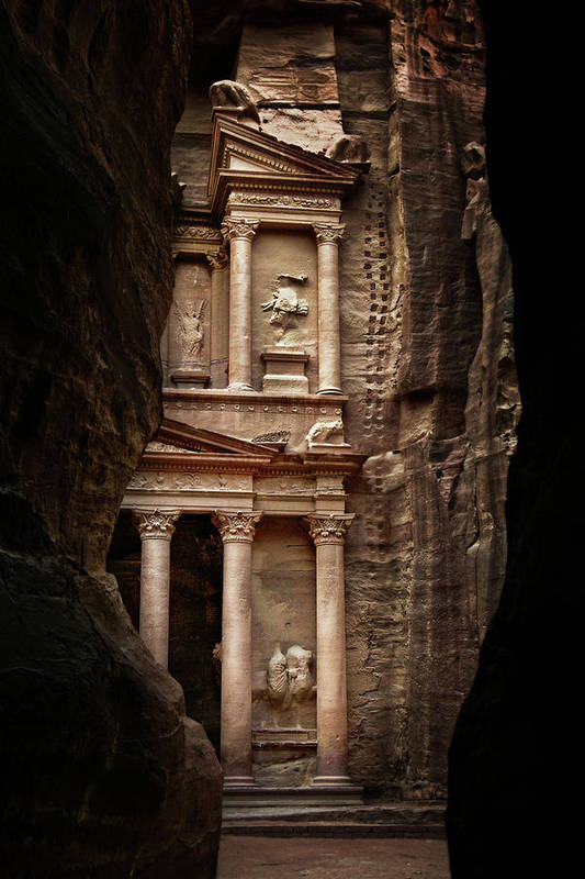 Vertical Art Print featuring the photograph Glimpse Of Treasury by David Lazar