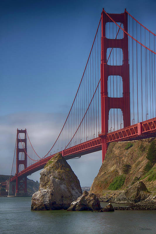 Golden Gate Bridge Art Print featuring the photograph Golden Gate by Debby Richards