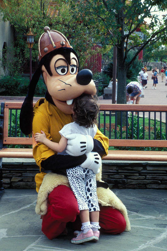 Disney Art Print featuring the photograph Goofy Love by Carl Purcell
