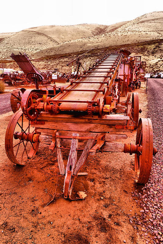 Grain Sack Loader Art Print featuring the photograph Grain Sack Loader by Jeff Swan