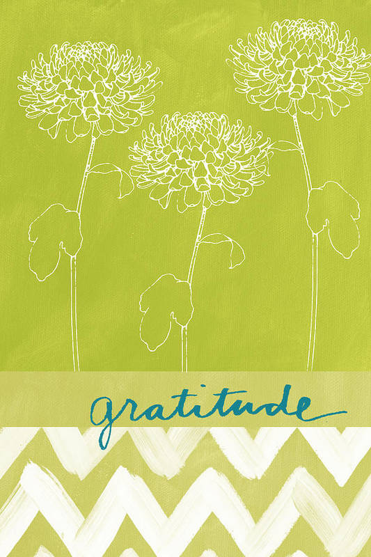 Flower Art Print featuring the painting Gratitude by Linda Woods