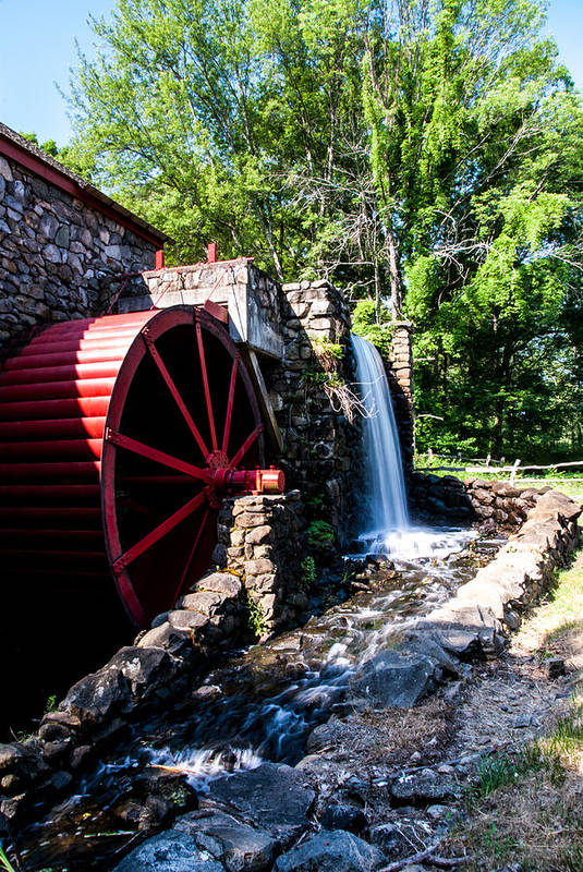 Wayside Inn Art Print featuring the photograph Grist Mill by Joel Fernandez
