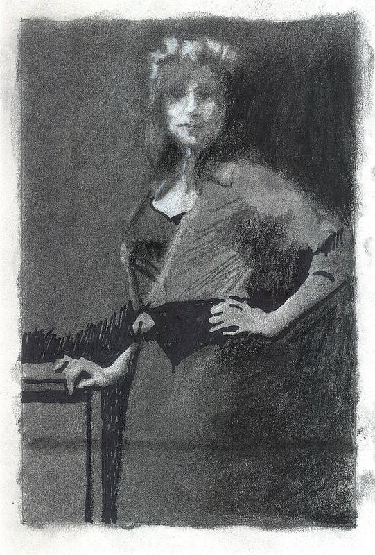 Figure Art Print featuring the drawing Gypsy A Study by Robert Bissett